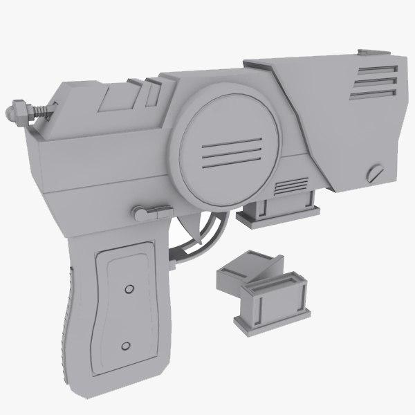 3d model sci fi pistol