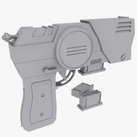 Sci fi Pistol and Clip
