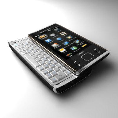 sonyericsson xperia x2 communicator 3d model