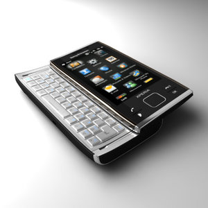 sonyericsson xperia x2 communicator 3d model