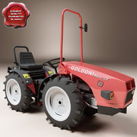 3ds max small tractor goldoni base