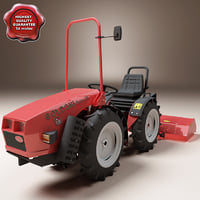 small tractor goldoni base 3d c4d