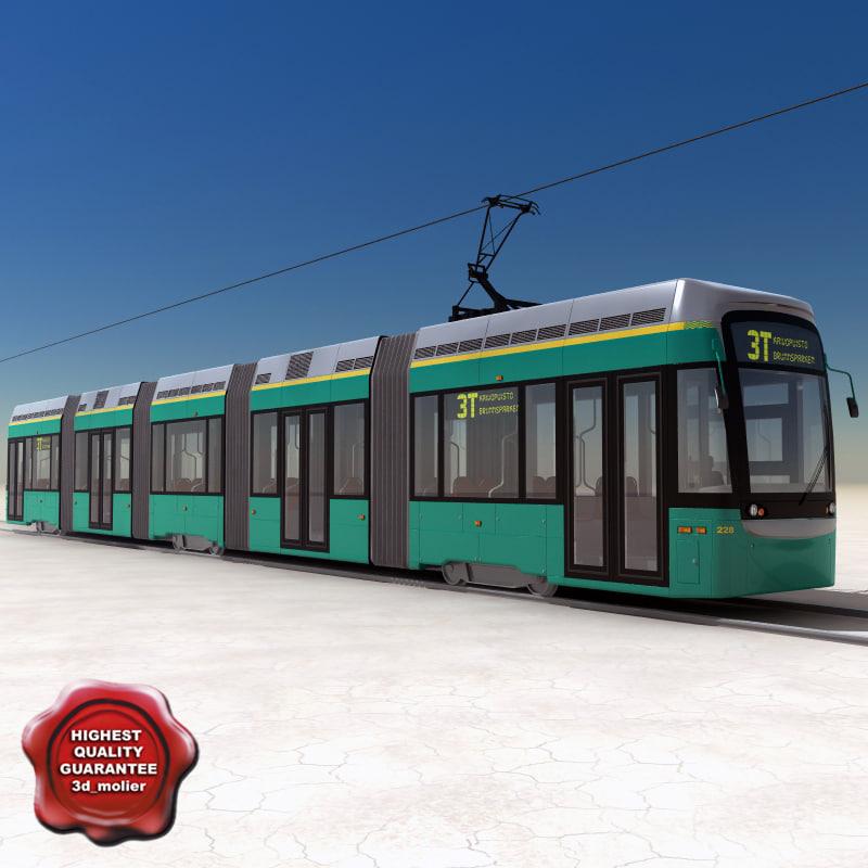 city tram variotram v3 3d model