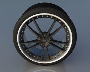 3dsmax generic wheel tire