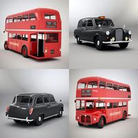 classic routemaster london cab 3d 3ds