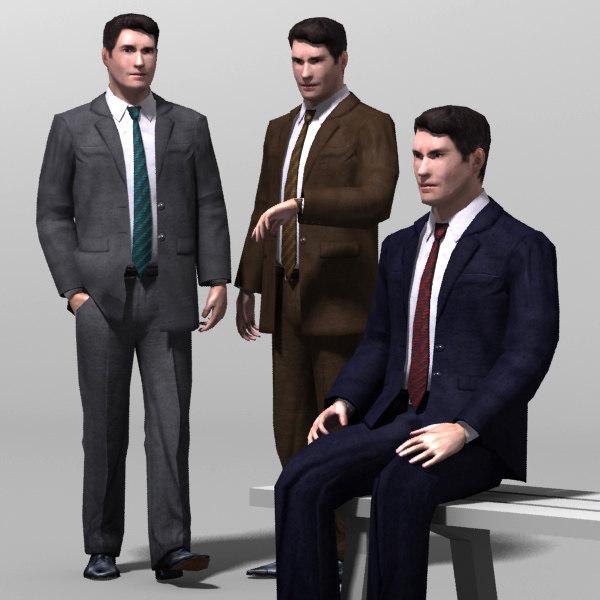 3d model human male