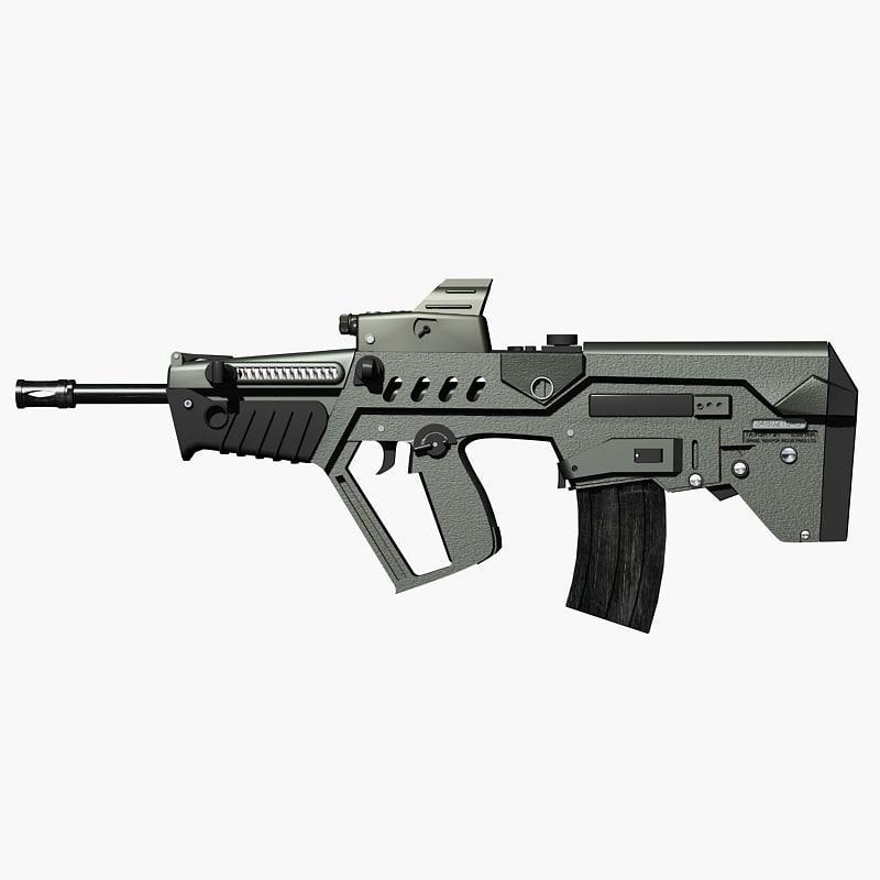 israeli tavor assault rifle 3d model