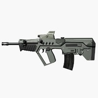 israeli tavor assault rifle 3d model