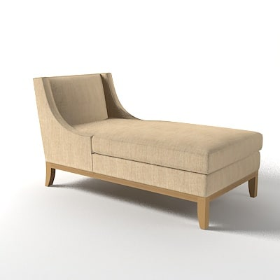 3d barbara scarlet chaise model
