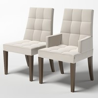 barbara barry henredon  bisquit tufted arm side chair