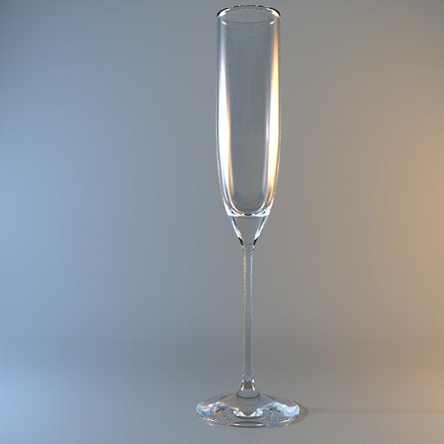 3d model champagne flute