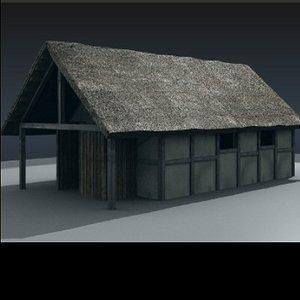 obj medieval cottage