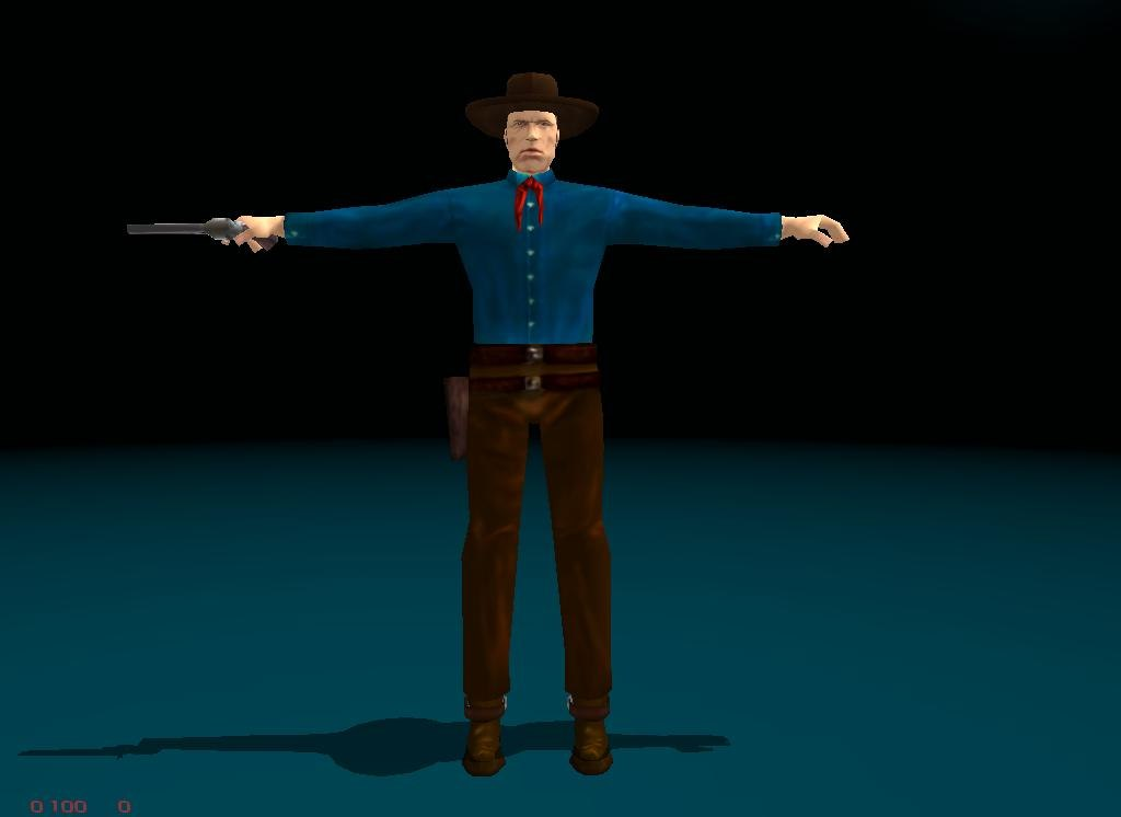 3d cowboy games animation model