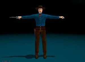 3d cowboy games animation model