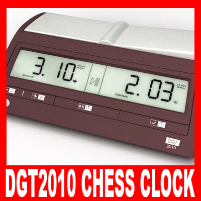 dgt2010 chess clock c4d