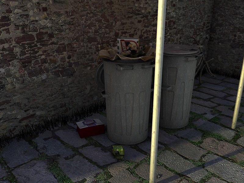 3ds dustbin bin