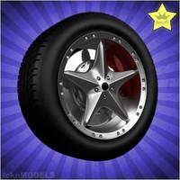 car wheel 3d model