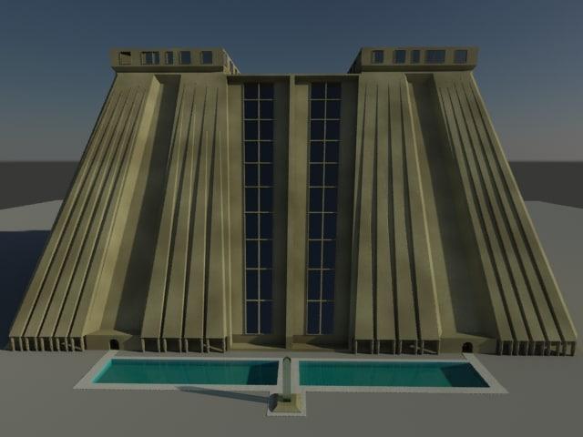 egyptian hotel 3d model