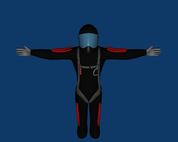 3d skydiver