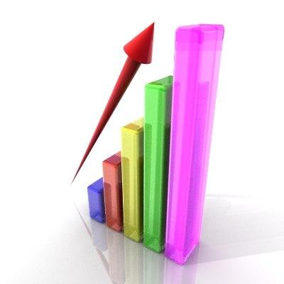 business graph 3d 3ds