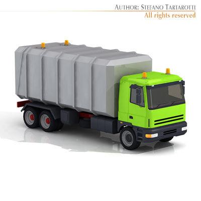 generic garbage transport truck 3d model