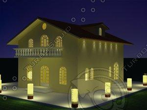 house modelled 3d model