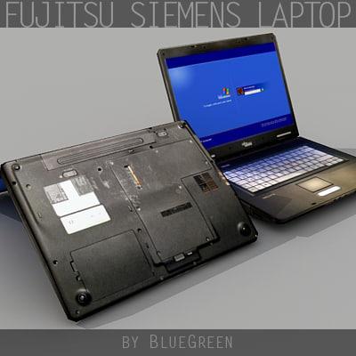 3d model fujitsu siemens used laptop