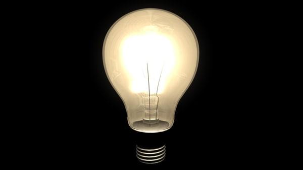 c4d animatable light bulb