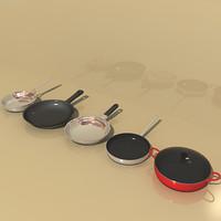 frying pans 3d max