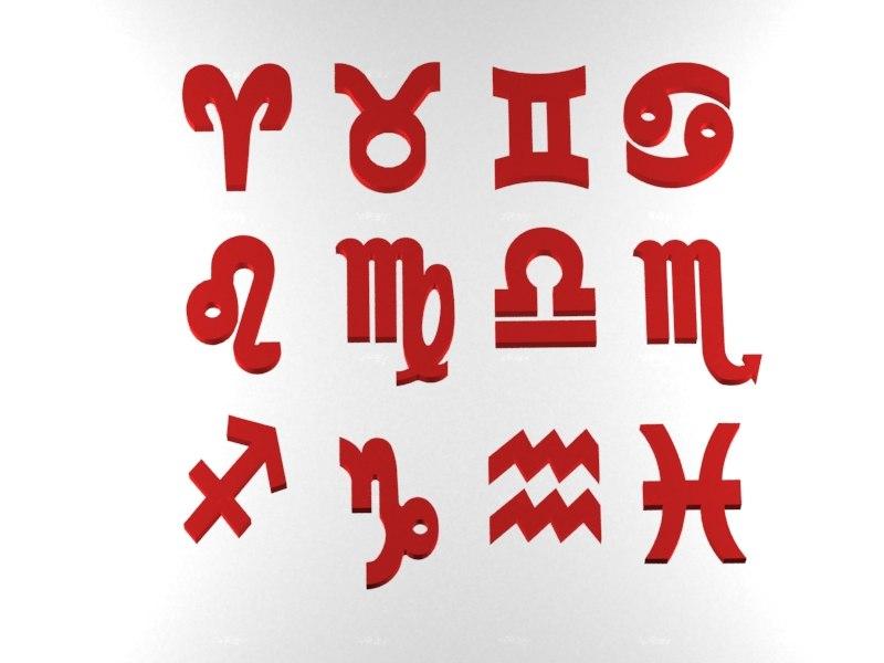 3d zodiacal signs