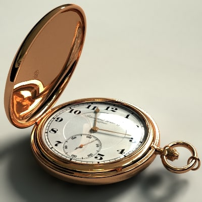 pocketwatch watch 3d model