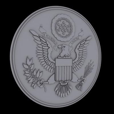 united states national emblem 3d 3ds