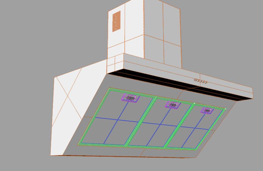 kitchen hood 3d 3ds