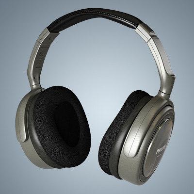3d model philips headphones