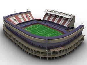 3d model football stadium