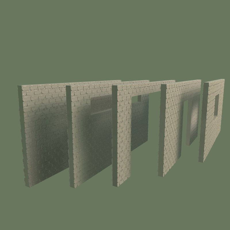 wall 3d 3ds
