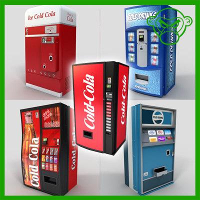 soda machine 3d max