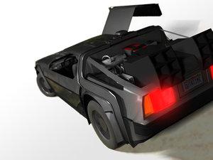 3d model lorean time machine