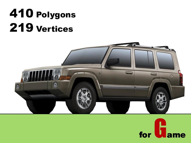 3d model jeep commander