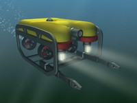 undersea exploration robots 3d max