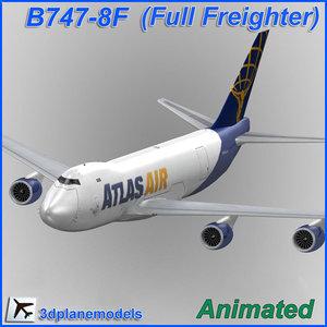 b747-8 atlas air 747 3d model