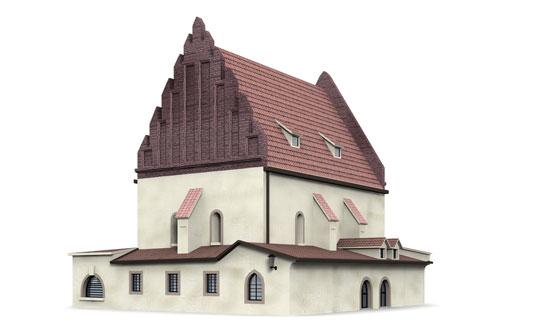 3d prague synagogue new model
