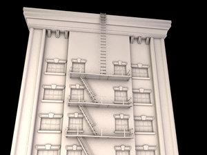 1920 apartment building obj