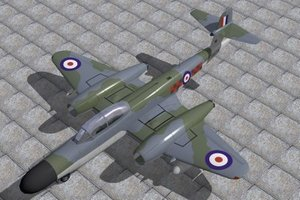 3d lwo armstrong whitworth meteor nf14