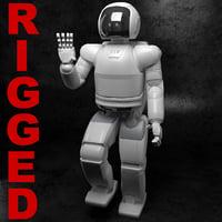 Asimo Robot Honda Rigged