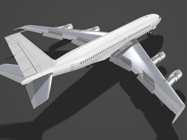 b 707-300 707 3d model