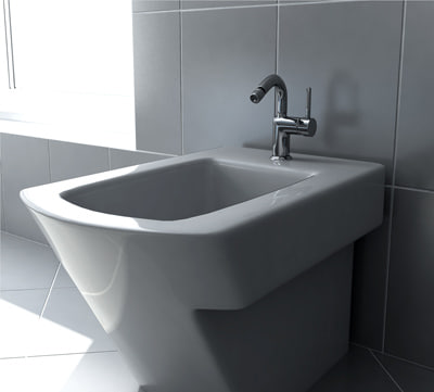 3ds max roca hall bidet