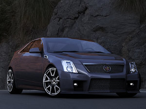 3d model of cadillac cts-v coupe