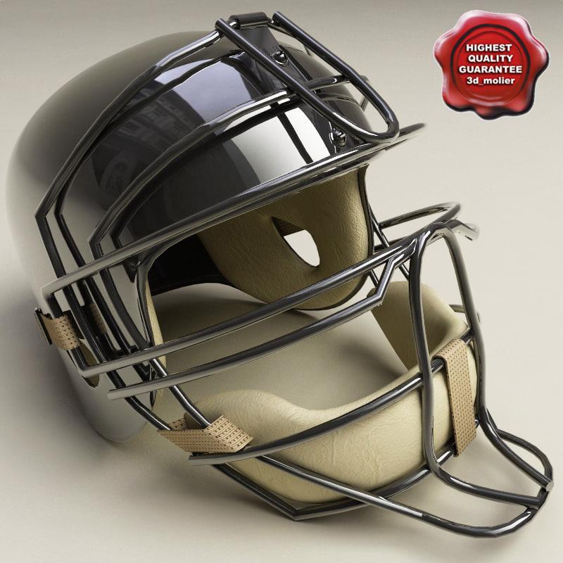 catcher baseball helmet 3d 3ds