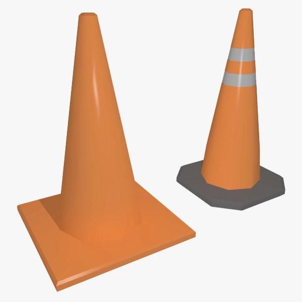 traffic cones 3d 3ds